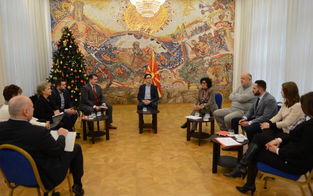 Претседателот Пендаровски ги прими членовите на Советот за граѓански надзор