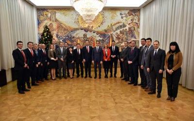 Претседателот Пендаровски ги прими членовите на новиот состав на Владата