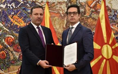 President Pendarovski hands over the mandate for transitional government formation