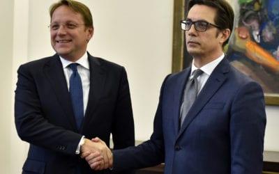 Средба на претседателот Пендаровски со Комесарот за соседска политика и преговори за проширување на ЕУ, Вархеји