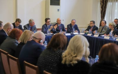 """Обраќање на тркалезната маса """"Патот кон ЕУ и НАТО: Перспективи и предизвици"""" организирана од Советот на амбасадори"""