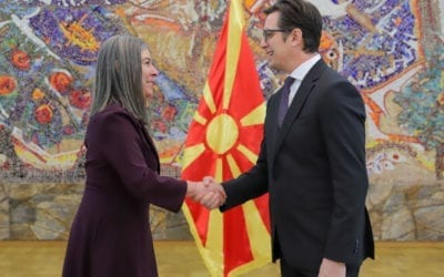 Претседателот Пендаровски ги прими акредитивните писма на новоименуваната амбасадорка на Португалската Република