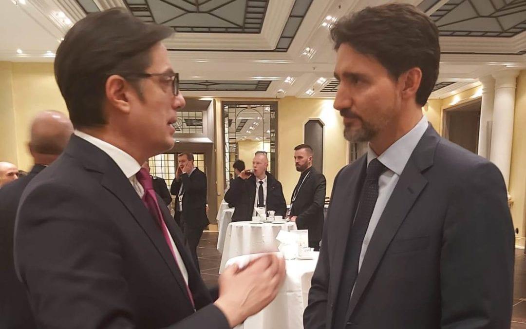Билатерални средби на претседателот Пендаровски со претседателот на Литванија, со претседателот на Молдавија и со премиерот на Канада