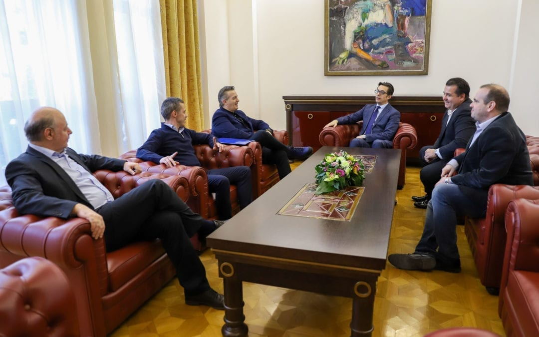 President Pendarovski meets with representatives of the Macedonian Media Association on Private National Televisions