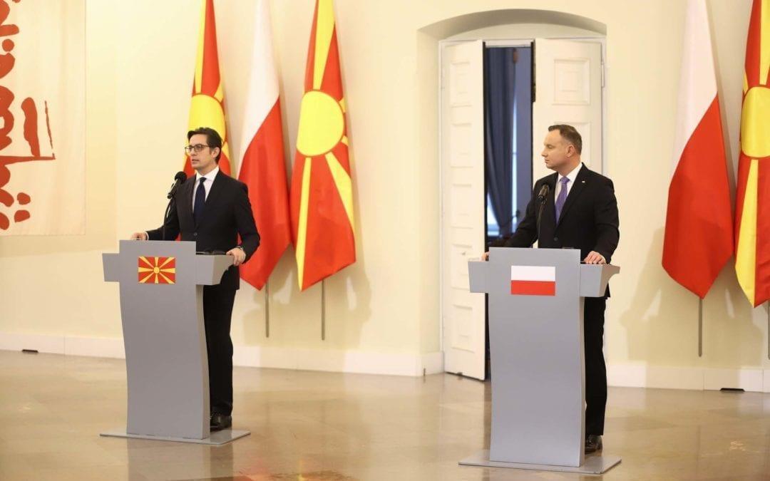 Deklaratë e presidentit Pendarovski gjatë vizitës zyrtare në Republikën e Polonisë