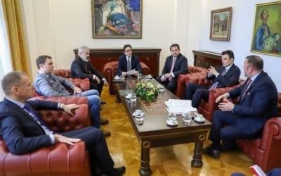 Средба на претседателот Пендаровски со претставници на телекомските оператори