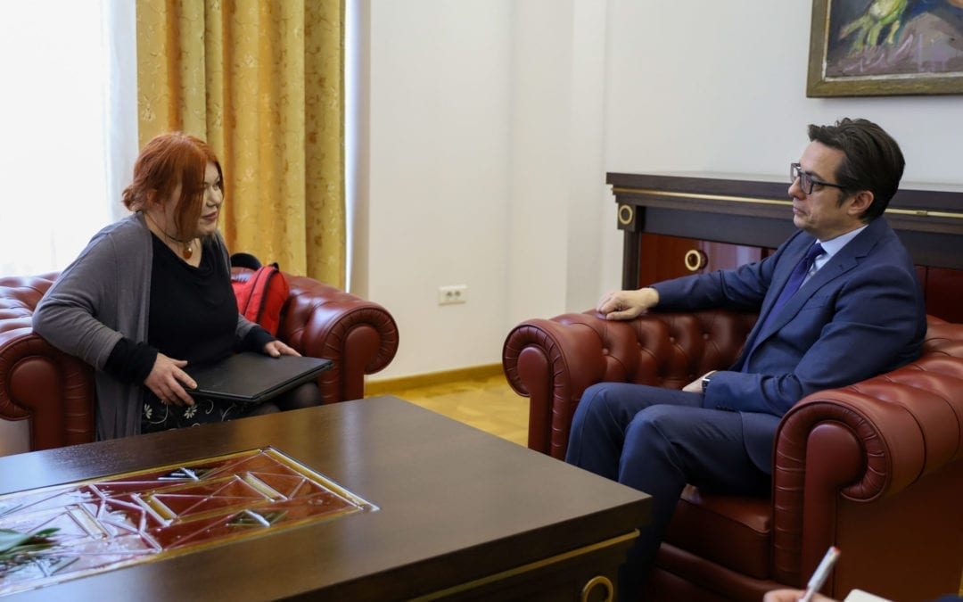Средба на претседателот Пендаровски со претставник на Еколошкото здружение на граѓани Фронт 21/42