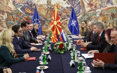 Претседателот Пендаровски го прими претседателот на Државниот збор на Република Словенија, Дејан Жидан