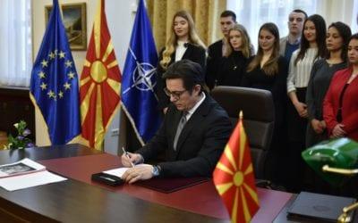 Претседателот Пендаровски го потпиша Указот за прогласување на Законот за ратификација на Северноатлантскиот договор