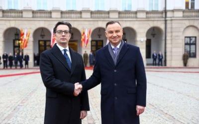 Започна официјалната посета на претседателот Пендаровски на Република Полска