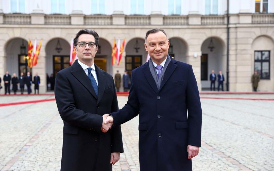 Filloi vizita zyrtare  e presidentit Pendarovski në Republikën e Polonisë