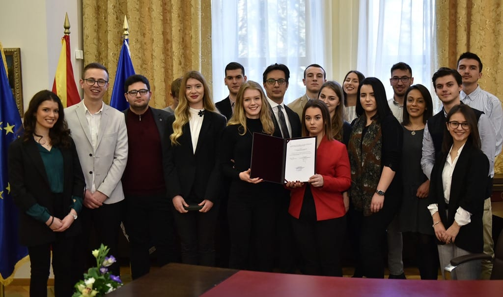 """Visit of students of the Faculty of Law """"Justinianus Primus"""" – Skopje as part of the Open Cabinet activity"""