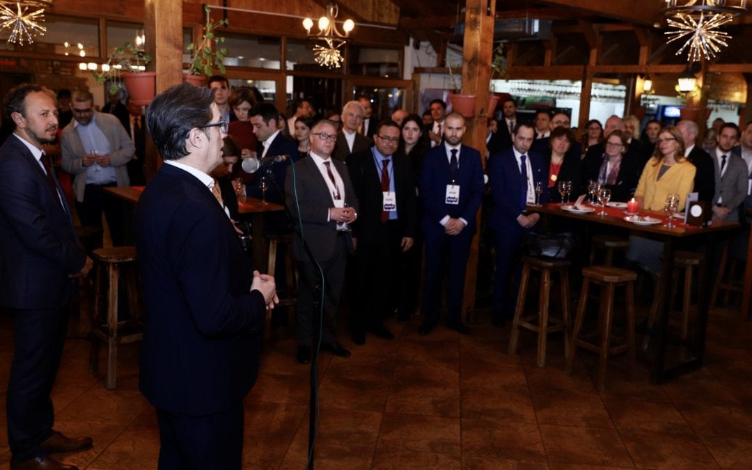 "President Pendarovski addresses the informal gathering of Think Tank participants ""Stimulating Strategic Autonomy – Western Balkans' Contribution to the Common European future"""