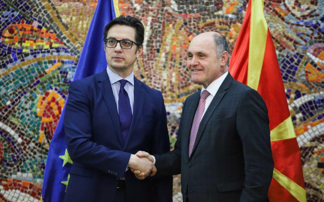 Средба на претседателот Пендаровски со претседателот на Националниот совет на австрискиот парламент, Волфганг Соботка