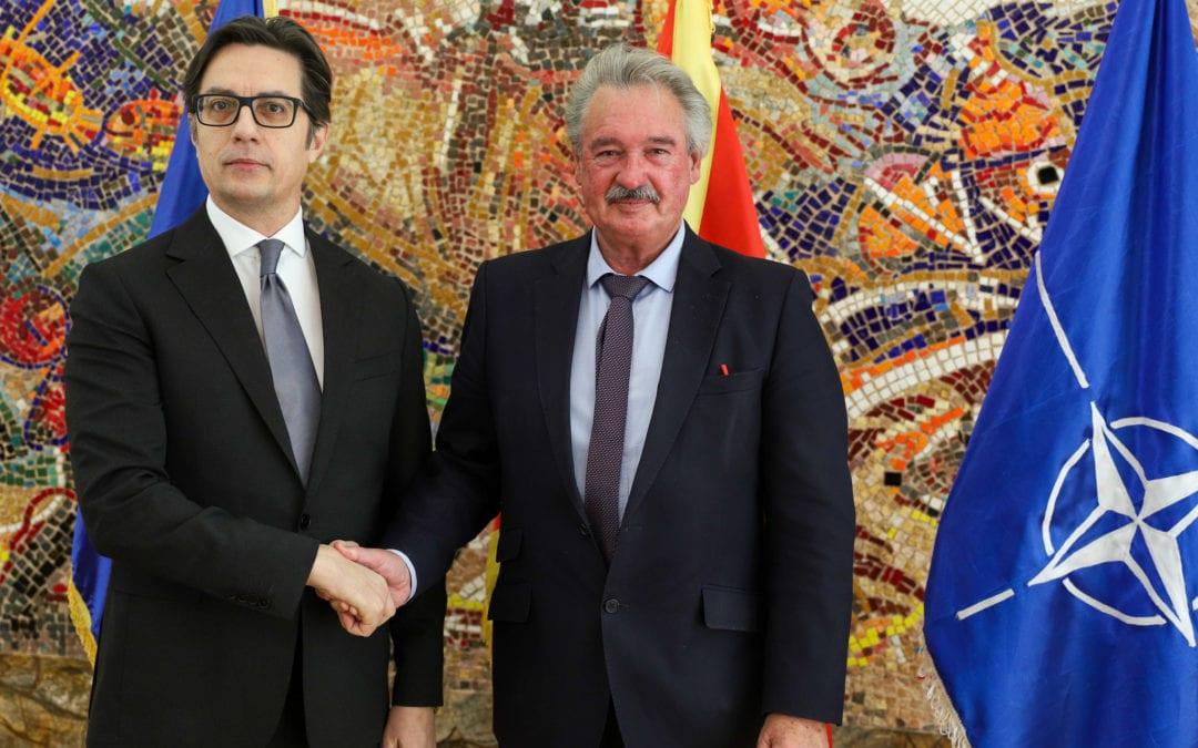 Средба на претседателот Пендаровски со министерот за надворешни и европски работи на Големото Војводство Луксембург, Жан Аселборн