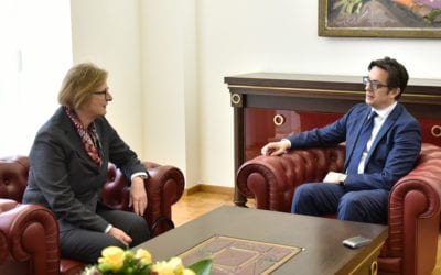 President Pendarovski meets with the German Director for SEE, Turkey and EFTA States, Susanne Schutz