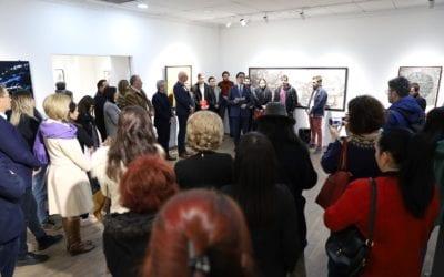 Обраќање на отворањето на изложбата на младите членови на ДЛУМ