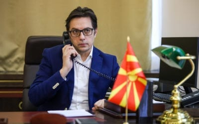 Телефонски разговор на претседателот Пендаровски со австрискиот претседател Ван дер Белен