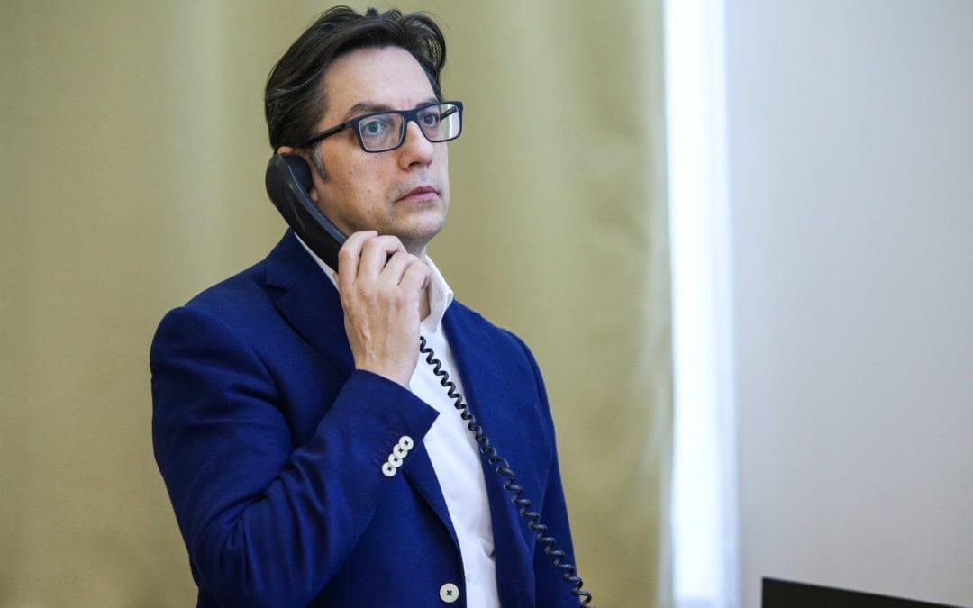 Телефонски разговор на претседателот Пендаровски со Мирослав Лајчак, специјален претставник на ЕУ за дијалогот Белград-Приштина