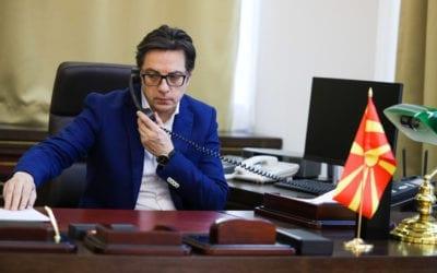 Bisedë telefonike e Presidentit Stevo Pendarovski dhe Presidentit të Italisë Matarela