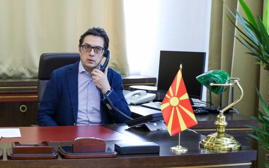Телефонски разговор на претседателот Пендаровски со американскиот државен секретар Помпео