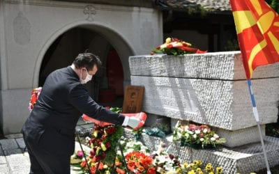 Delegation from the Cabinet of the President lays flowers on the occasion of the 117th anniversary of the death of Goce Delchev