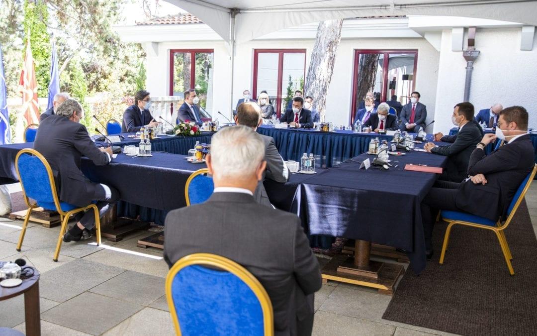 Лидерска средба во Кабинетот на Претседателот на Република Северна Македонија
