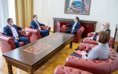 President Pendarovski meets with representatives of the party Macedonian Alliance for European Integration from the Republic of Albania