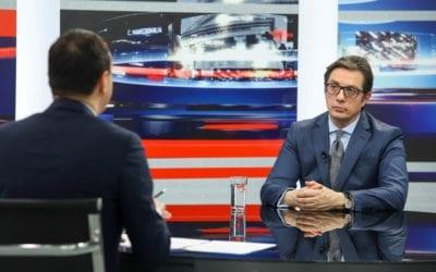 """Интервју на претседателот Пендаровски за """"360 степени"""" на телевизија АЛСАТ-М"""