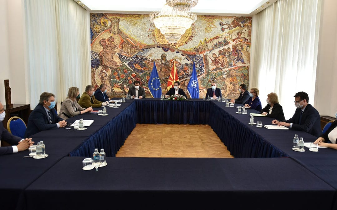 President Pendarovski receives members of the State Election Commission