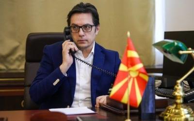 Телефонски разговор на претседателот Пендаровски со Албин Курти