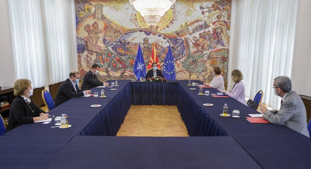 Средба на претседателот Пендаровски со Специјалната изборна оценска мисија на ОБСЕ/ОДИХР