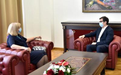 Проштална средба на претседателот Пендаровски со српската амбасадорка Душанка Дивјак – Томиќ