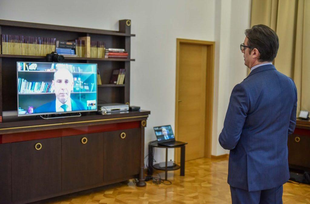 Предавање на акредитивните писма од страна на новоименуваниот амбасадор на Република Кипар за Република Северна Македонија