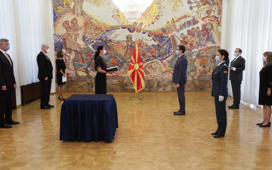 Претседателот Пендаровски ги прими акредитивните писма на новоименуваната амбасадорка на Сојузна Република Германија