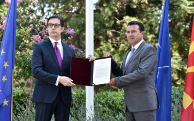 President Pendarovski hands over the mandate for the composition of the Government