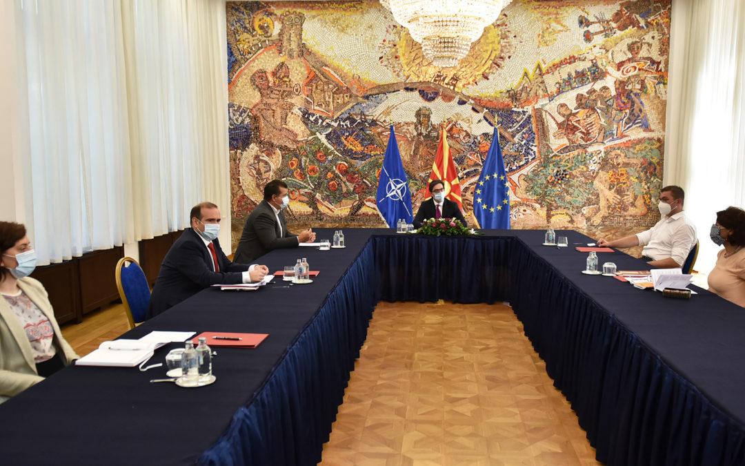 Средба на претседателот Пендаровски со претседателот на ВМРО – ДПМНЕ, Христијан Мицкоски