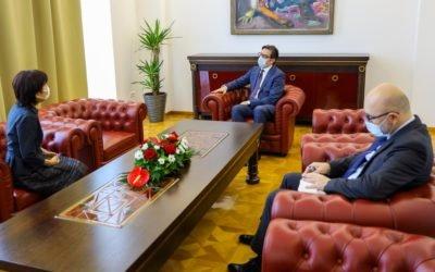 Farewell meeting of President Pendarovski with the Japanese Ambassador, Keiko Haneda
