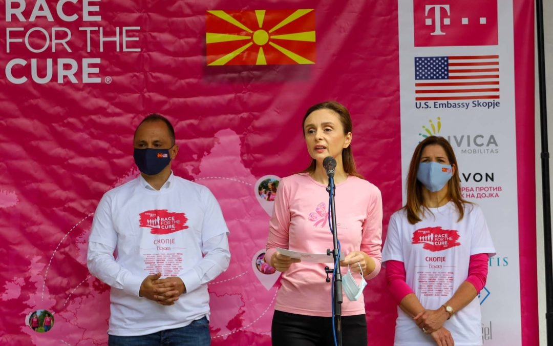 The President's Wife with support for raising awareness about breast cancer