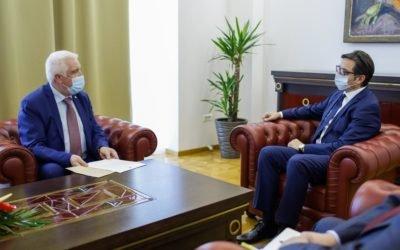 Средба на претседателот Пендаровски со албанскиот амбасадор Река
