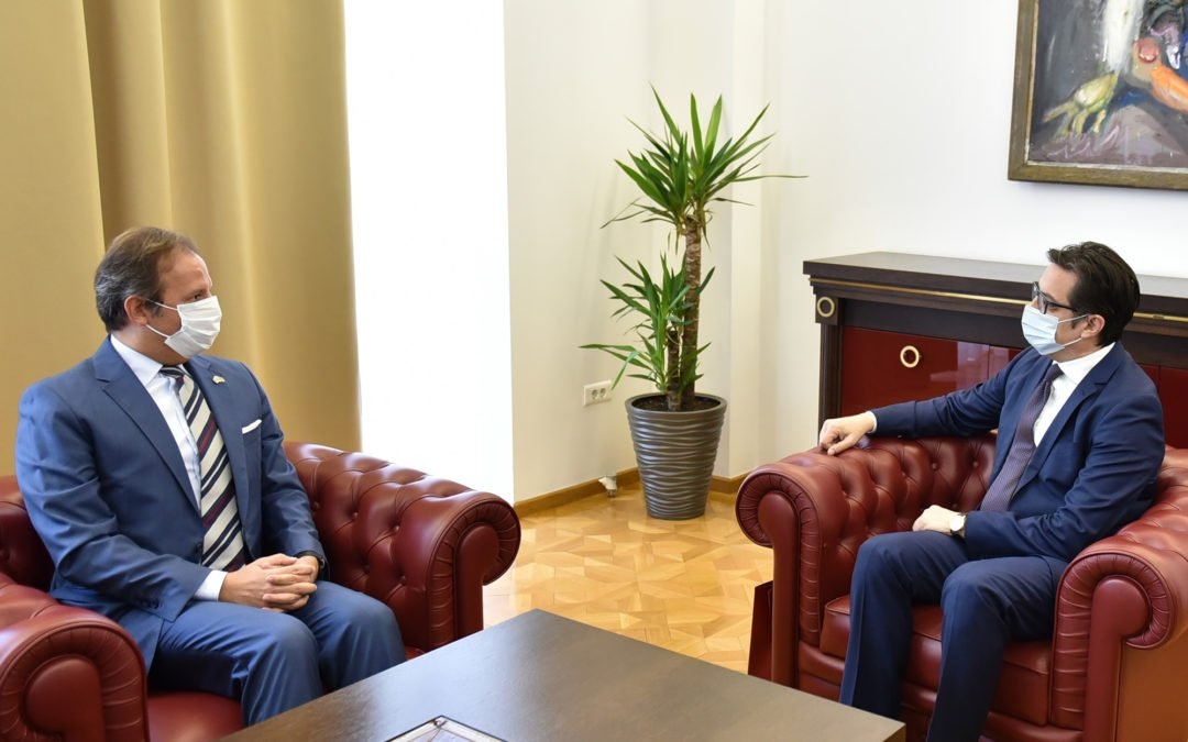Farewell meeting of President Pendarovski with the Italian Ambassador Carlo Romeo