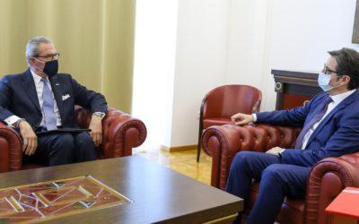Средба на претседателот Пендаровски со шефот на мисијата на ОБСЕ во Скопје, амбасадорот Клеменс Која