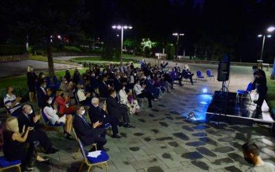 """Претседателот со сопругата домаќини на камерен концерт на млади музичари од Фондацијата """"Томислав Зографски"""""""