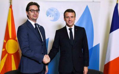 Честитка од францускиот претседател Макрон до претседателот Пендаровски по повод Денот на независноста