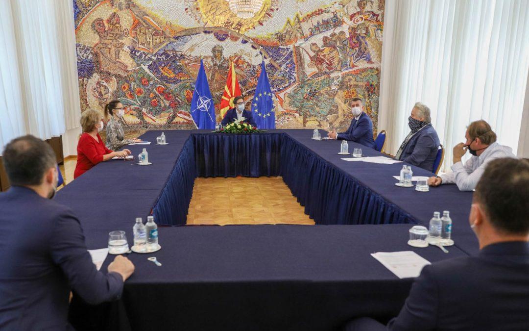Средба на претседателот Пендаровски со претставници на Независната угостителска комора