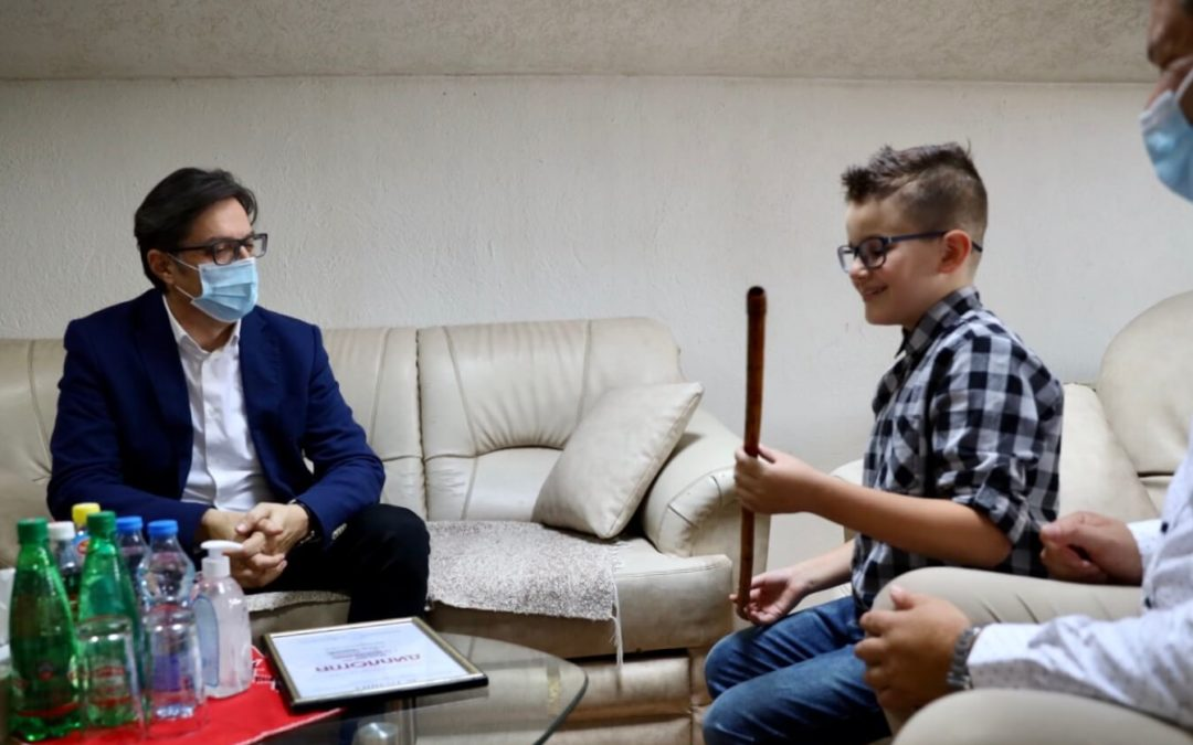 """Meetings of President Pendarovski with prominent individuals in Bitola within the """"Face to face with the President"""" project"""