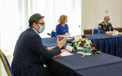 Претседателот Пендаровски брифиран за тековните состојби во Армијата по членството во НАТО