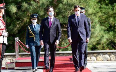 Presidenti Stevo Pendarovski nikoqir i Presidentit slloven, Borut Pahor