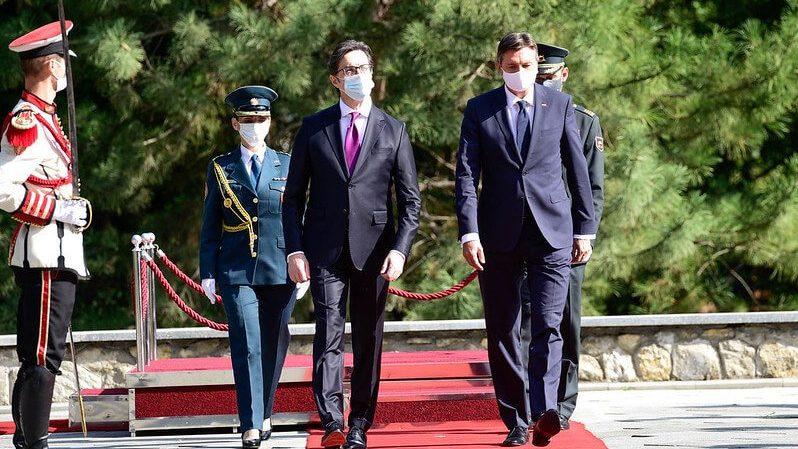 Претседателот Стево Пендаровски домаќин на словенечкиот претседател Борут Пахор