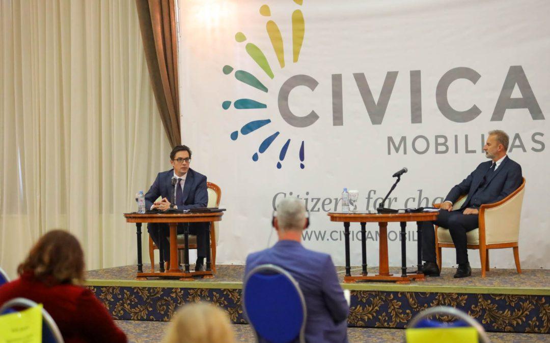 Претседателот Пендаровски на националниот форум на граѓански организации: Невладиниот сектор треба побудно да ја следи и да ја критикува работата на политичарите